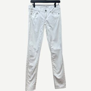 AMERICAN EAGLE White Distressed Skinny Jeans 2L